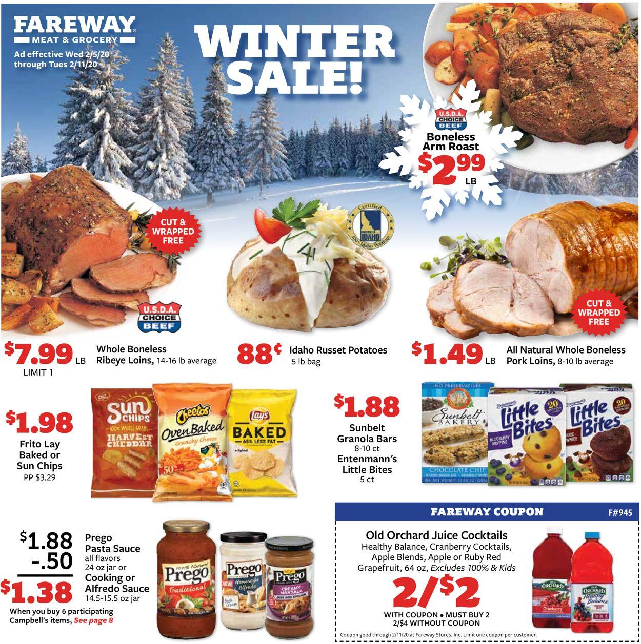 Fareway Weekly Ad Circular - valid 02/05-02/11/2020