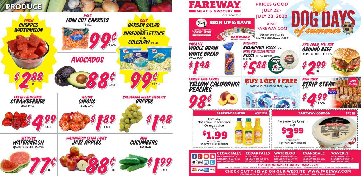 Fareway Weekly Ad Circular - valid 07/22-07/28/2020