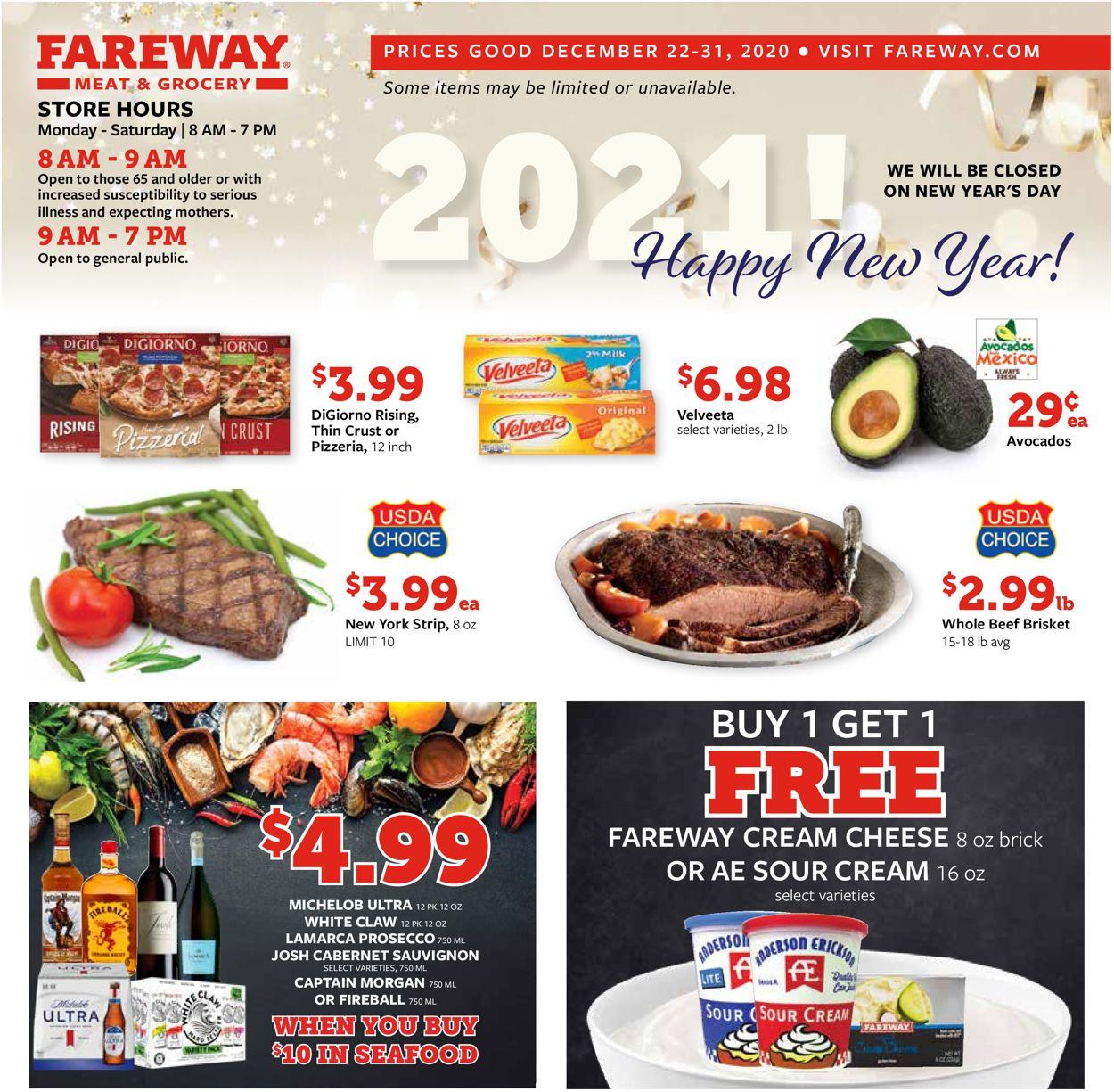 Fareway Weekly Ad Circular - valid 12/22-12/31/2020