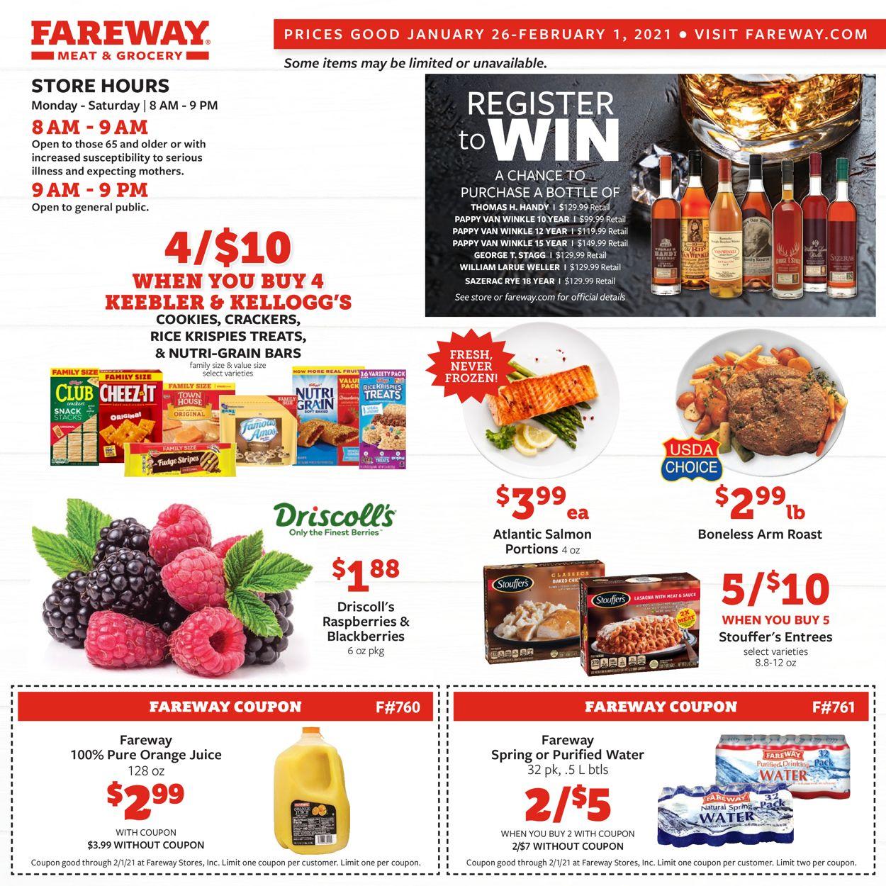 Fareway Weekly Ad Circular - valid 01/26-02/01/2021