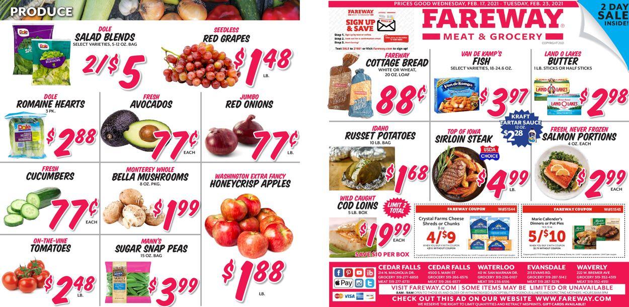 Fareway Weekly Ad Circular - valid 02/17-02/23/2021