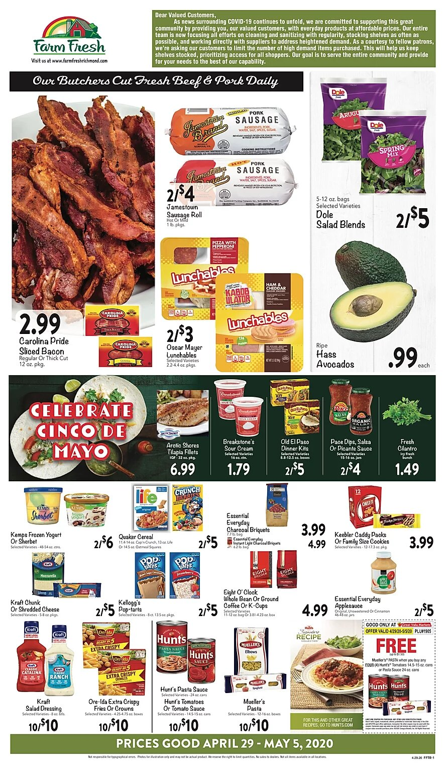 Farm Fresh Weekly Ad Circular - valid 04/29-05/05/2020