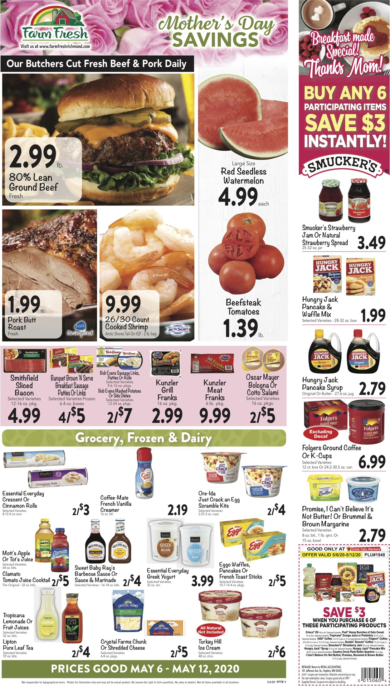 Farm Fresh Weekly Ad Circular - valid 05/06-05/12/2020