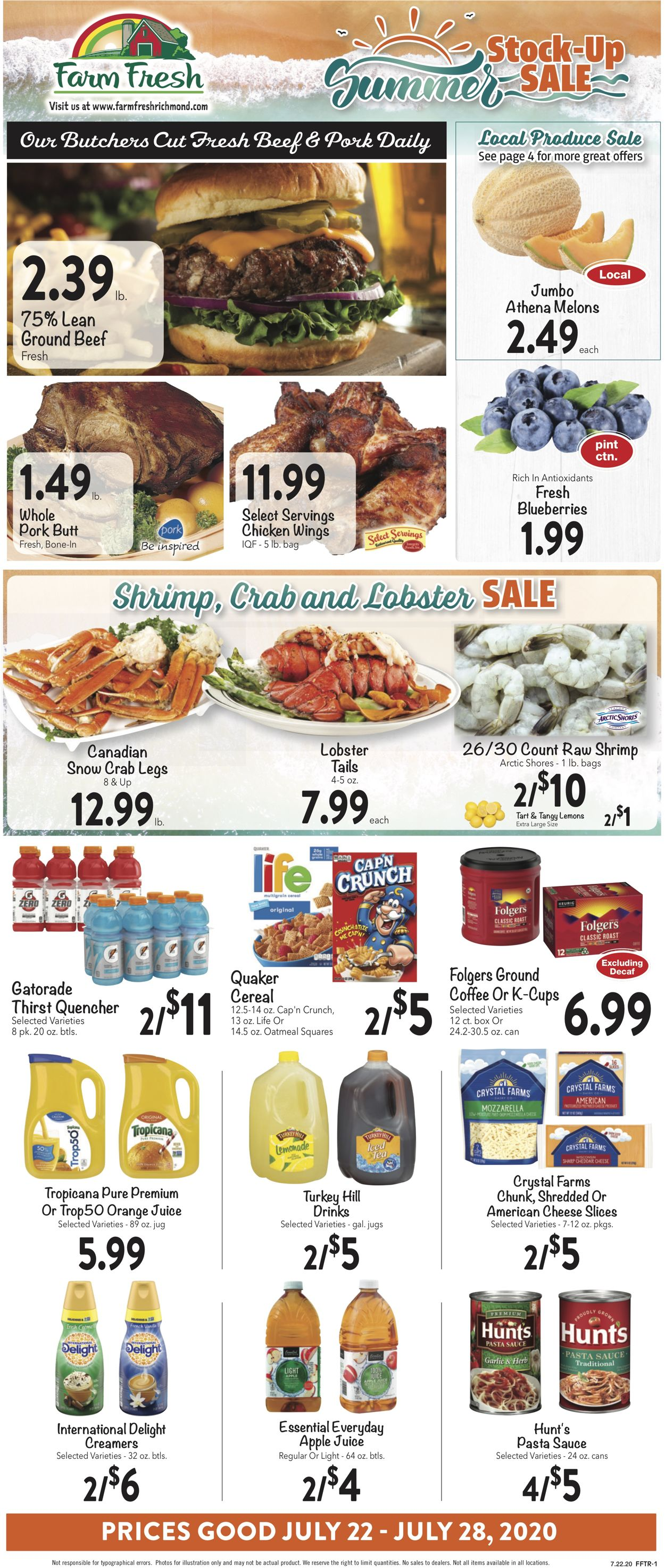 Farm Fresh Weekly Ad Circular - valid 07/22-07/28/2020