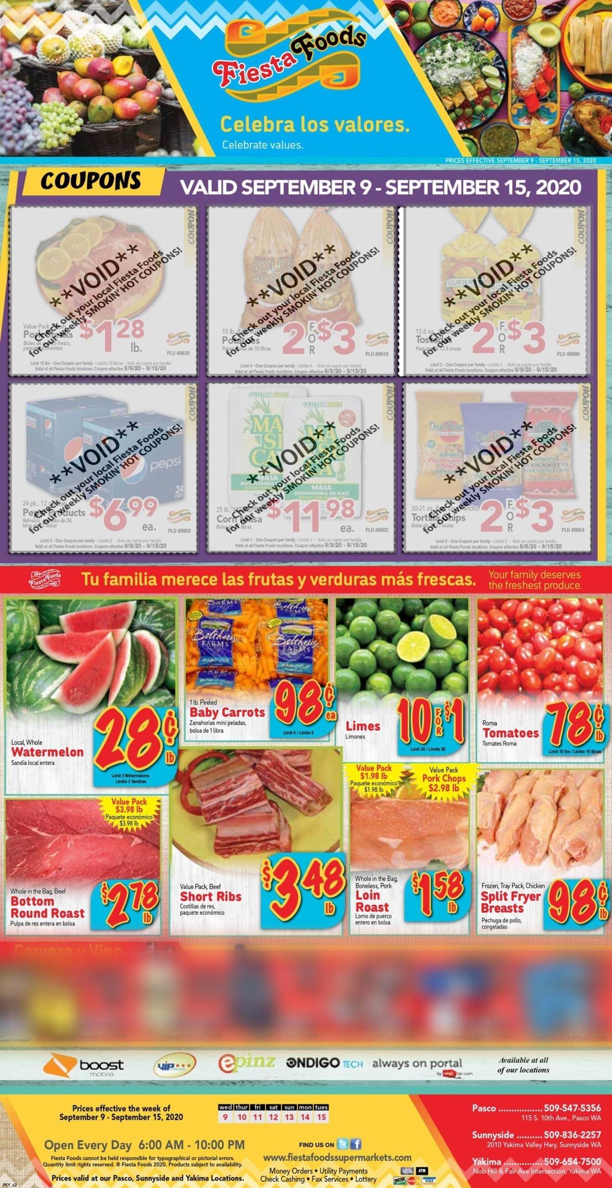 Fiesta Foods SuperMarkets Weekly Ad Circular - valid 09/09-09/15/2020