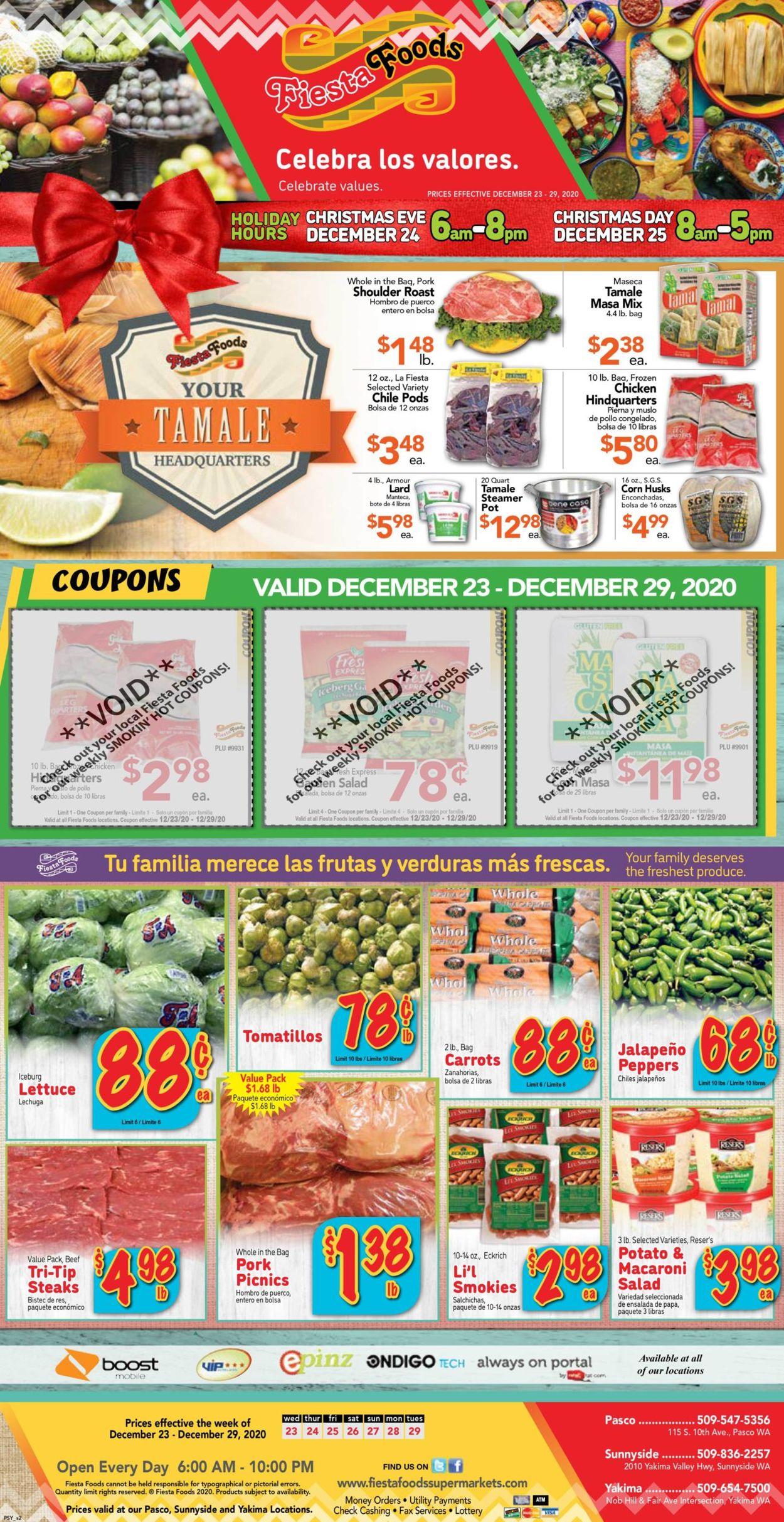 Fiesta Foods SuperMarkets Weekly Ad Circular - valid 12/23-12/29/2020