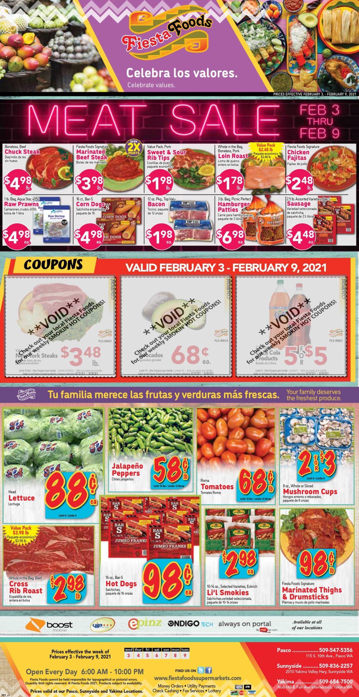 Fiesta Foods SuperMarkets Weekly Ad Circular - valid 02/03-02/09/2021