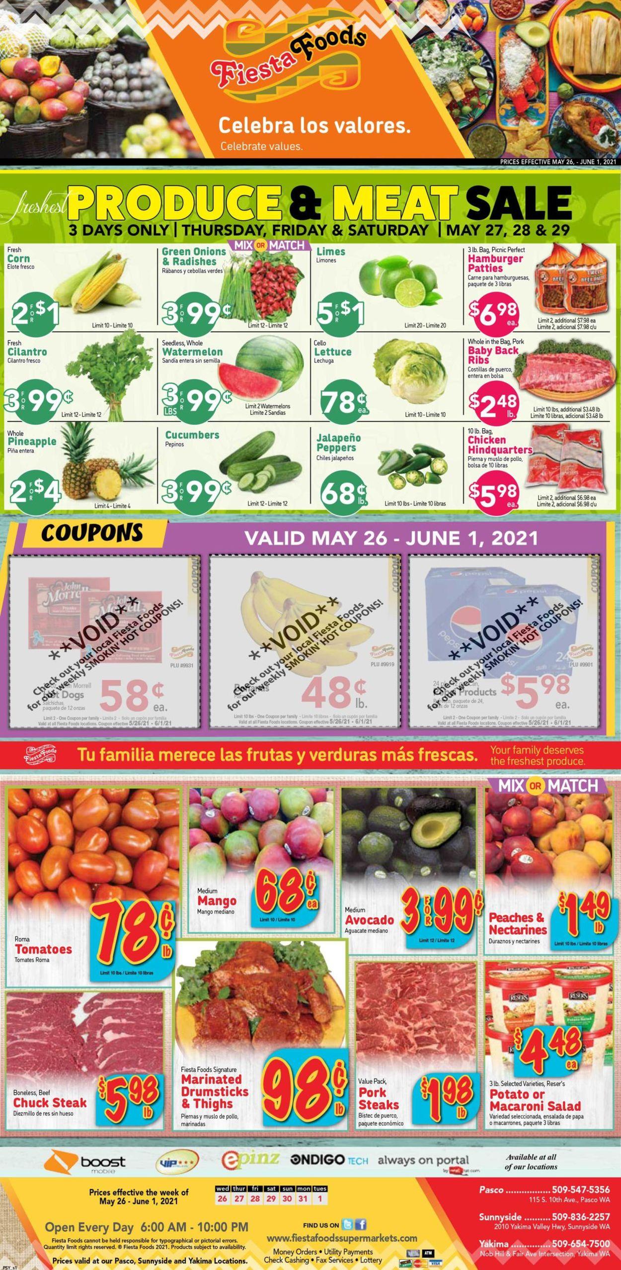Fiesta Foods SuperMarkets Weekly Ad Circular - valid 05/26-06/01/2021