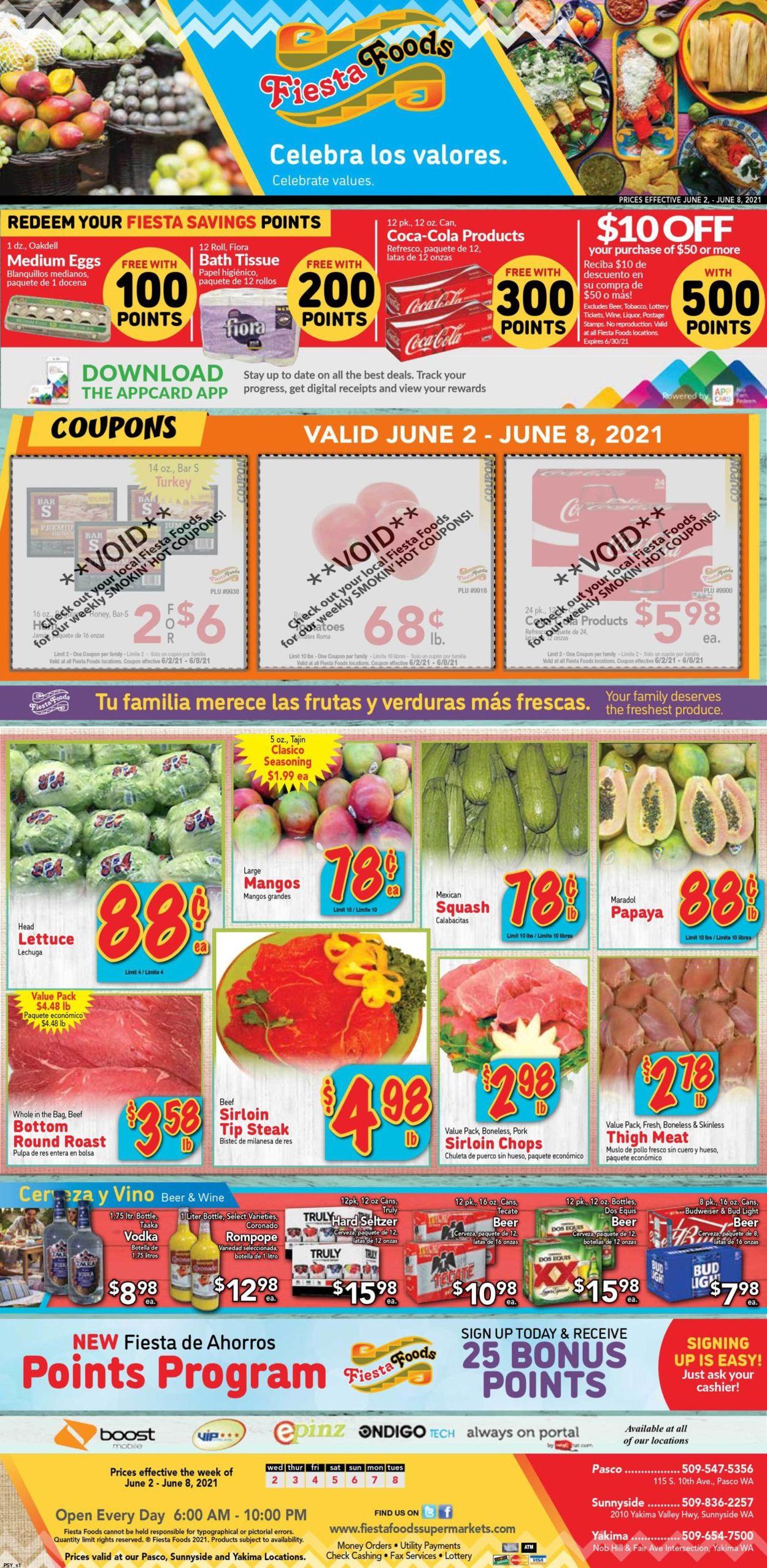 Fiesta Foods SuperMarkets Weekly Ad Circular - valid 06/02-06/08/2021
