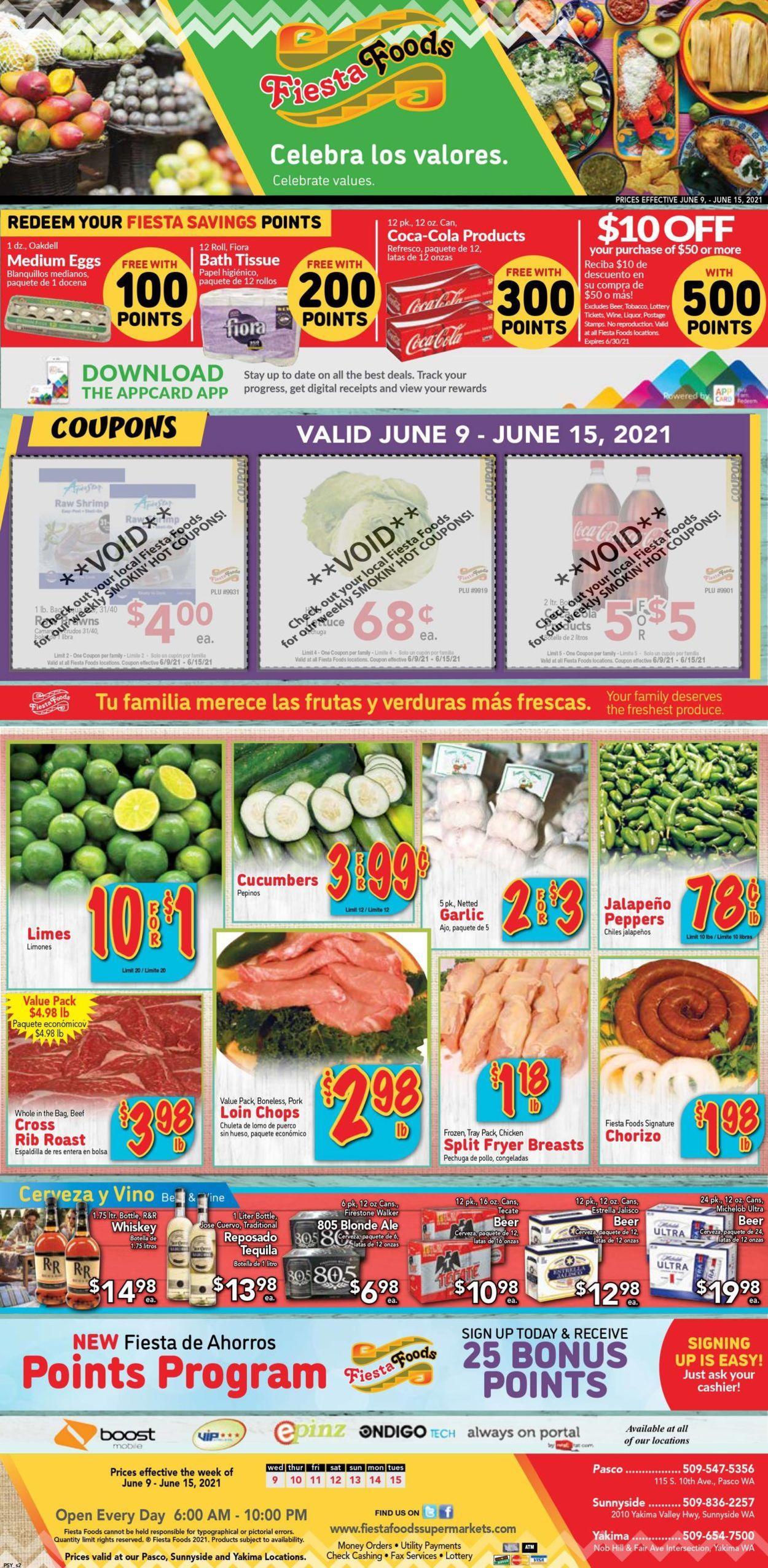 Fiesta Foods SuperMarkets Weekly Ad Circular - valid 06/09-06/15/2021