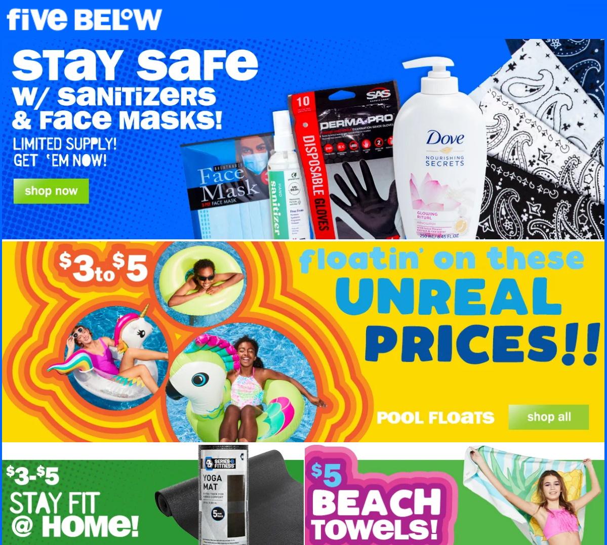 Five Below Weekly Ad Circular - valid 06/03-06/09/2020