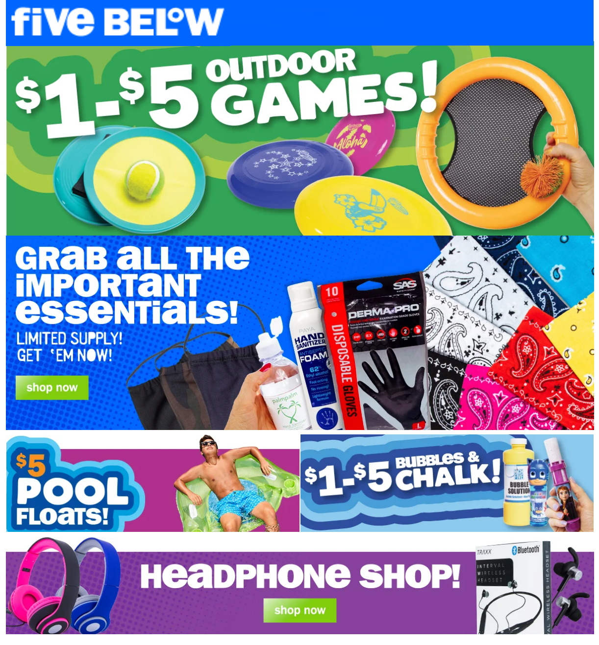 Five Below Weekly Ad Circular - valid 07/08-07/14/2020