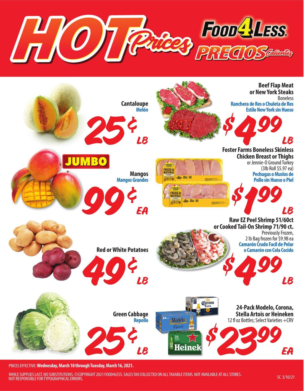 Food 4 Less Weekly Ad Circular - valid 03/10-03/16/2021