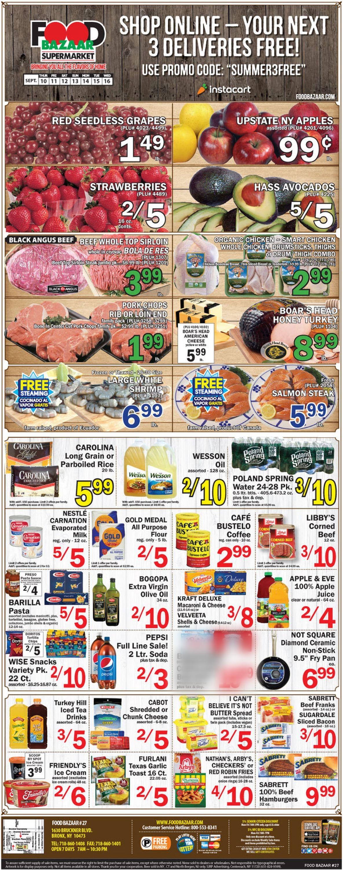 Food Bazaar Weekly Ad Circular - valid 09/10-09/16/2020