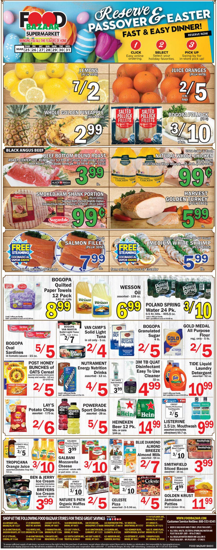 Food Bazaar - Easter 2021 Ad Weekly Ad Circular - valid 03/25-03/31/2021