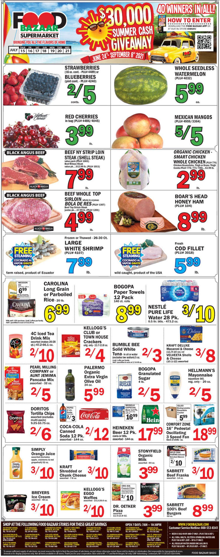Food Bazaar Weekly Ad Circular - valid 07/15-07/21/2021