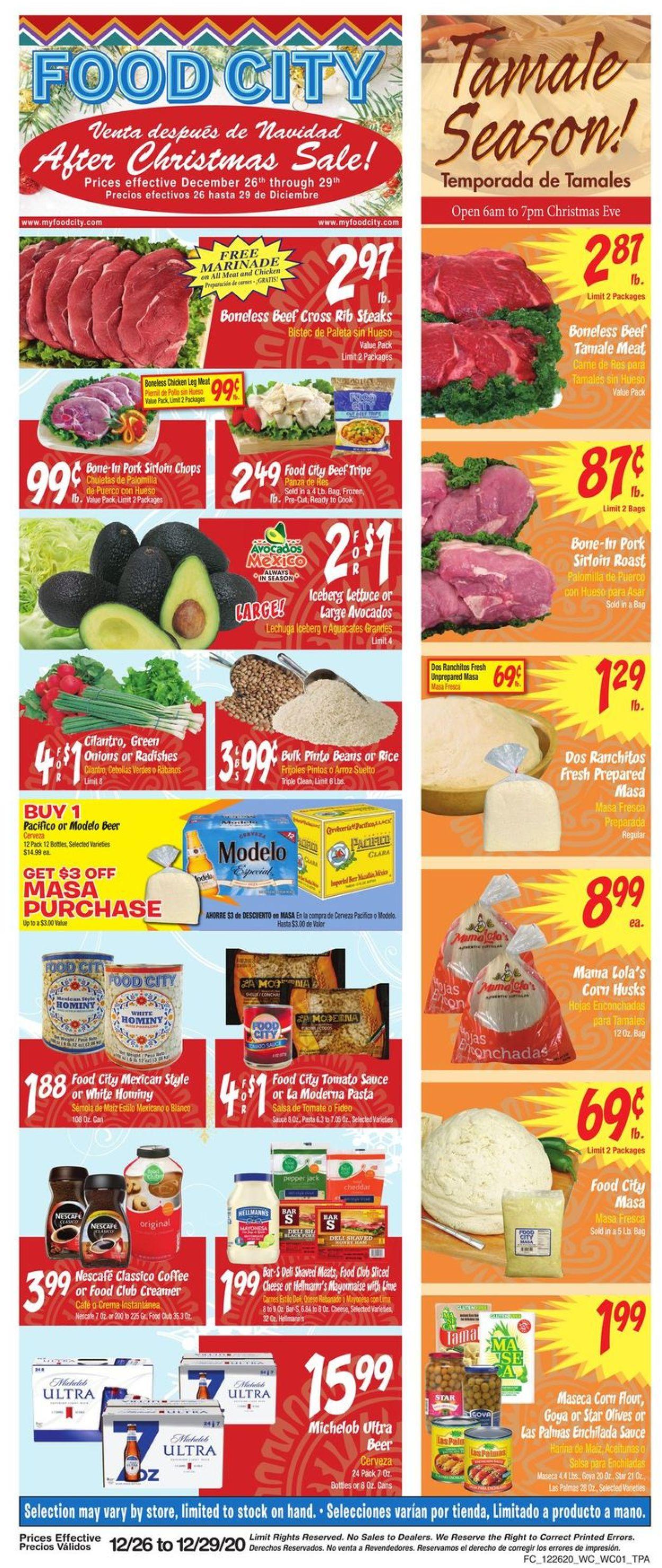 Food City Weekly Ad Circular - valid 12/26-12/29/2020
