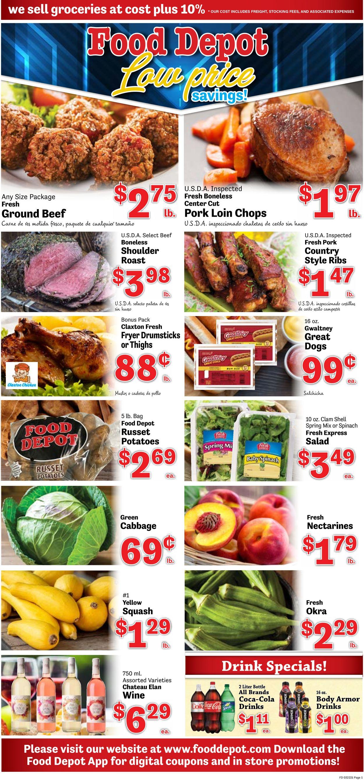 Food Depot Weekly Ad Circular - valid 03/22-03/28/2021