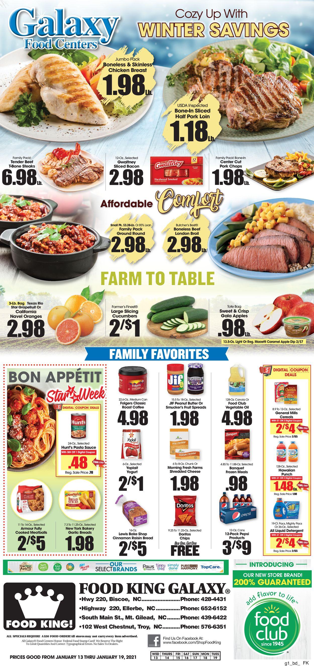 Food King Weekly Ad Circular - valid 01/13-01/19/2021