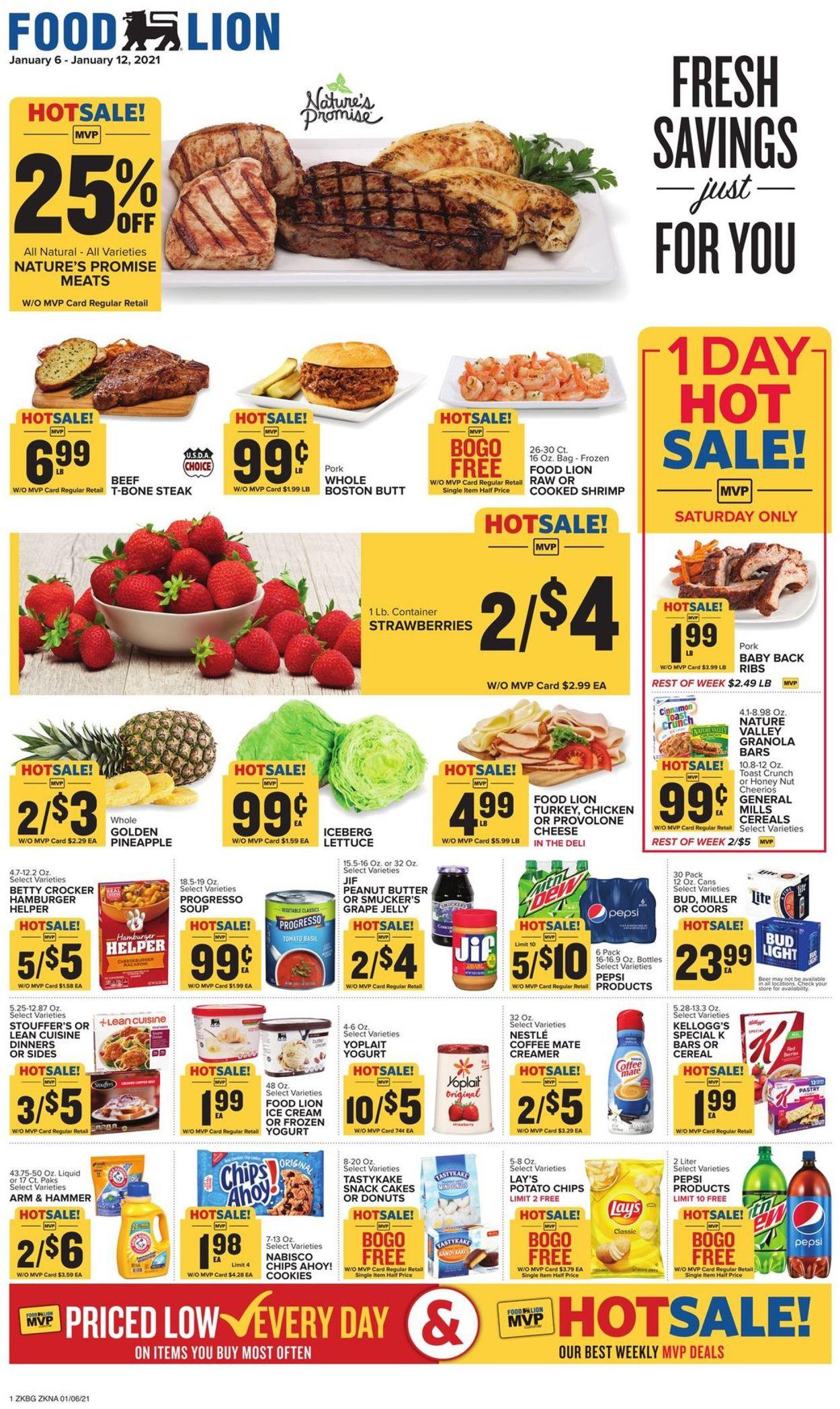 Food Lion Weekly Ad Circular - valid 01/06-01/12/2021