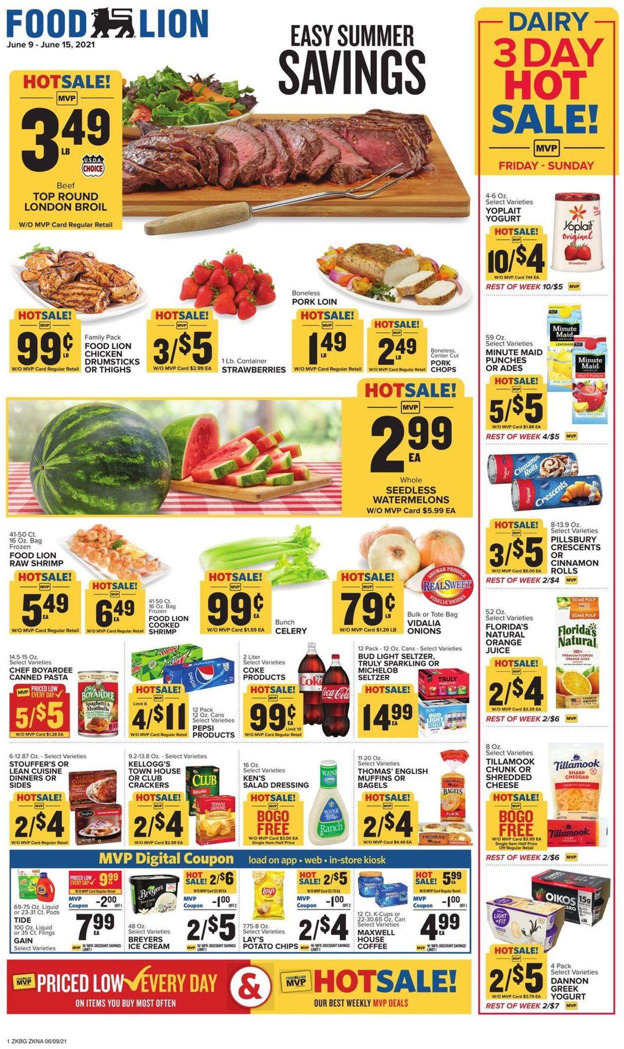 Food Lion Weekly Ad Circular - valid 06/09-06/15/2021