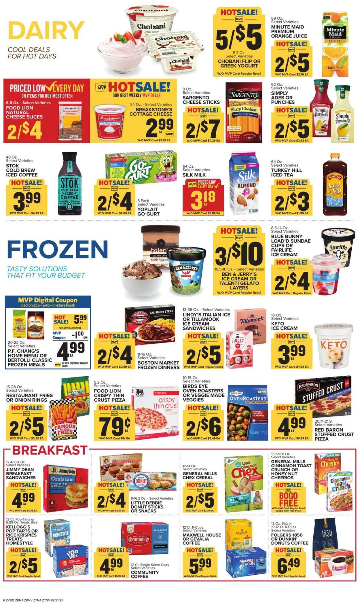 Food Lion Weekly Ad Circular - valid 07/21-07/27/2021 (Page 9)