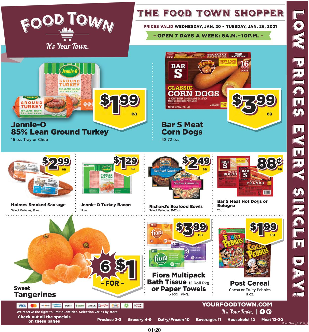 Food Town Weekly Ad Circular - valid 01/20-01/26/2021