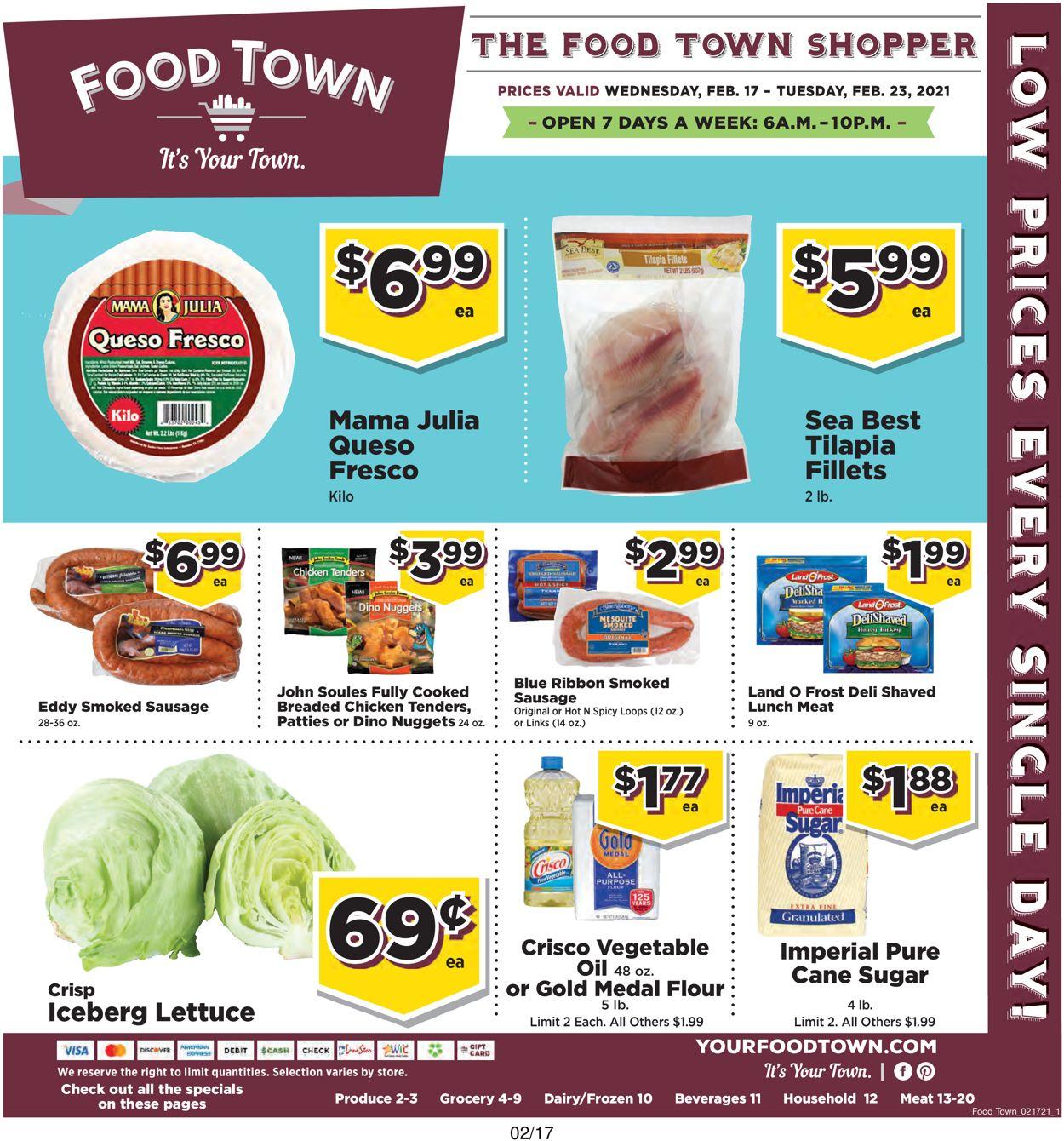 Food Town Weekly Ad Circular - valid 02/17-02/23/2021