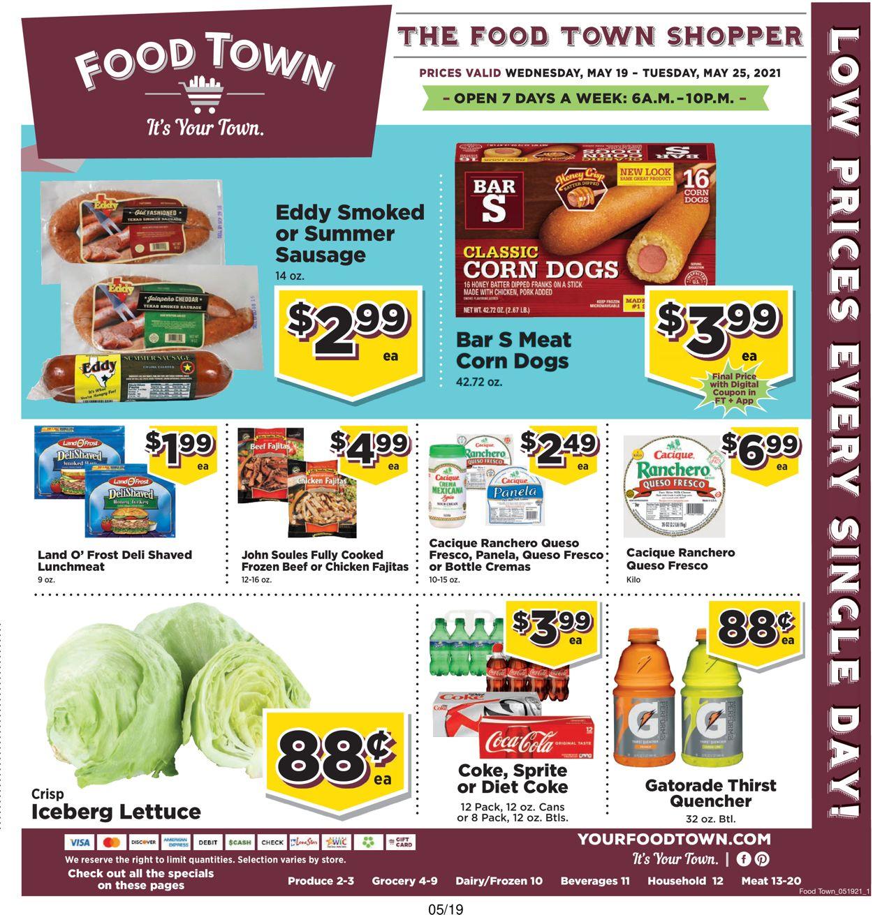 Food Town Weekly Ad Circular - valid 05/19-05/25/2021