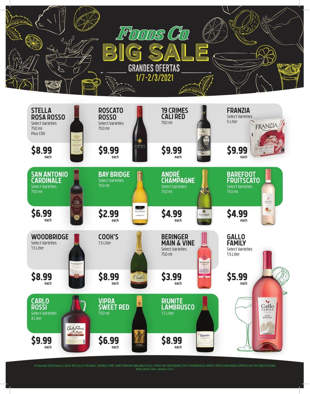 Foods Co. Wine & Spirits Ad 2021 Weekly Ad Circular - valid 01/07-02/03/2021