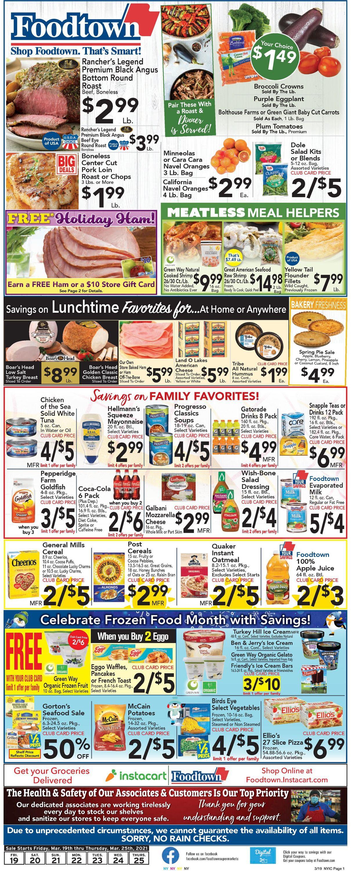 Foodtown Weekly Ad Circular - valid 03/19-03/25/2021