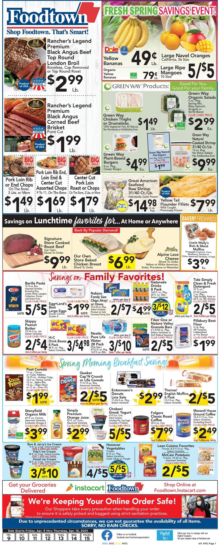 Foodtown Weekly Ad Circular - valid 04/09-04/15/2021