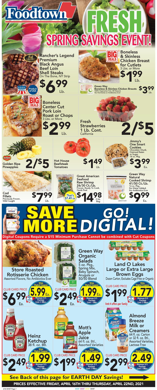 Foodtown Weekly Ad Circular - valid 04/16-04/22/2021