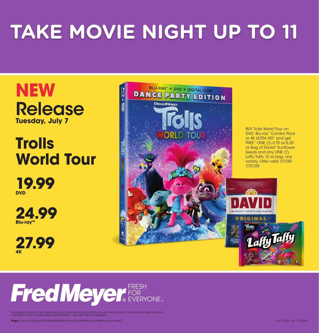 Fred Meyer Weekly Ad Circular - valid 07/07-07/07/2020