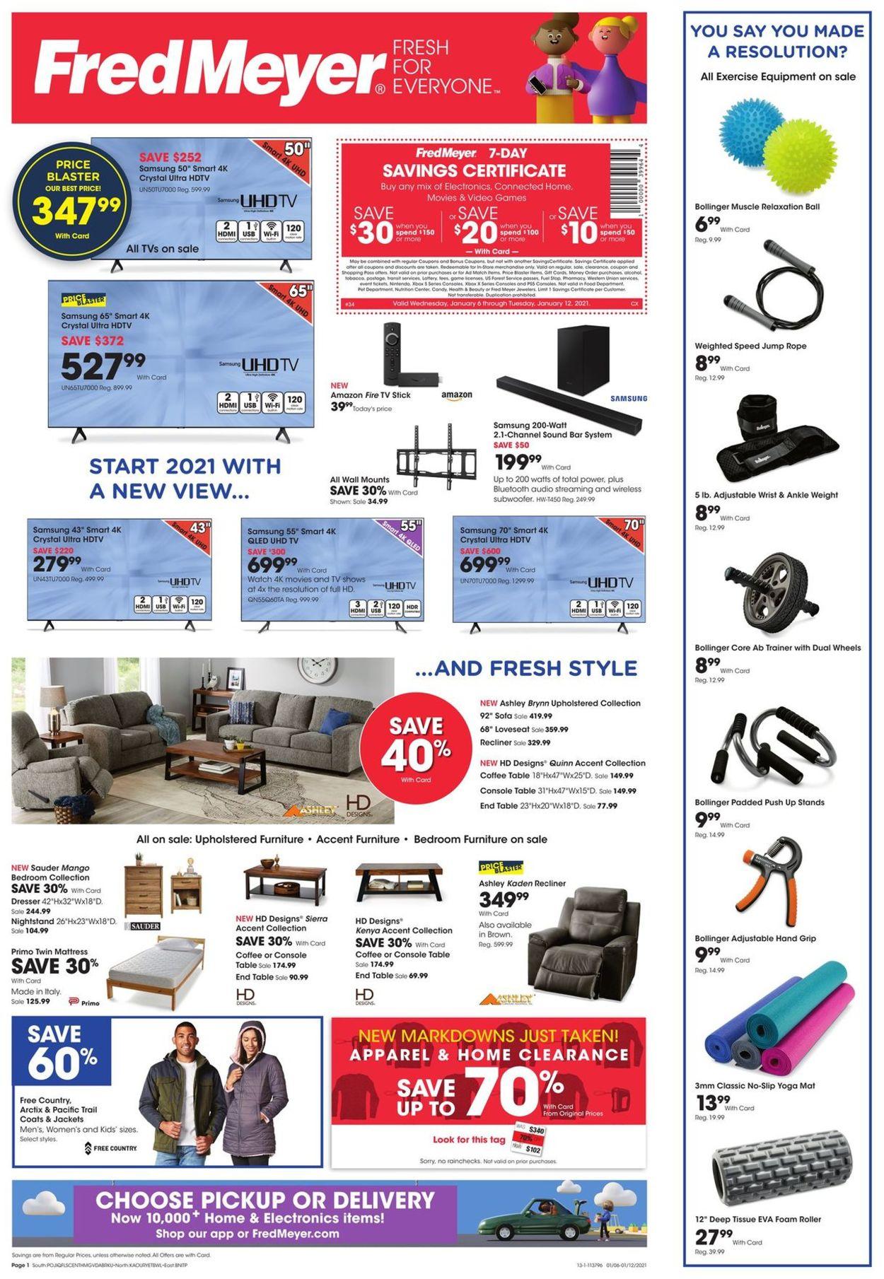 Fred Meyer Weekly Ad Circular - valid 01/06-01/12/2021