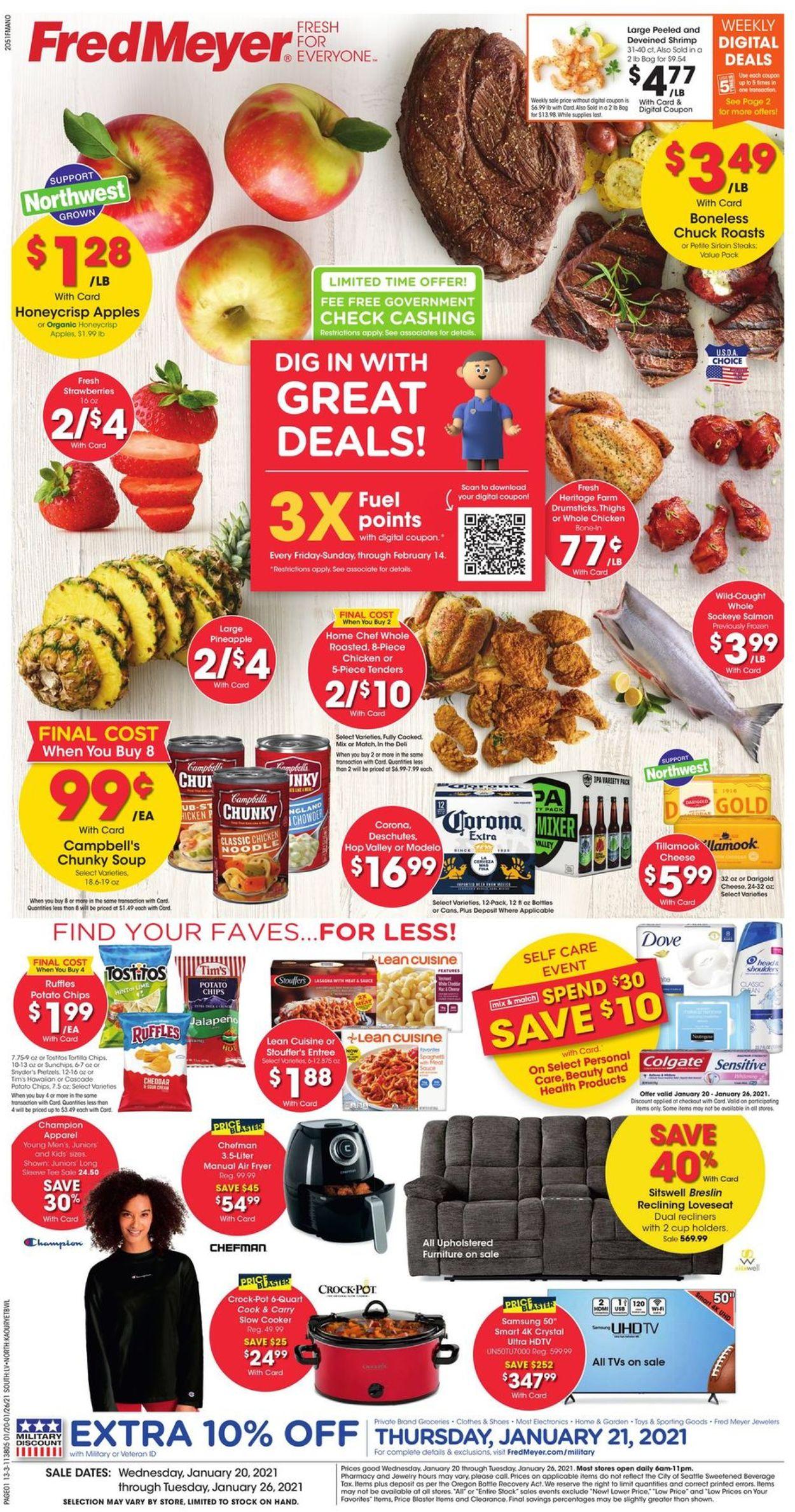 Fred Meyer Weekly Ad Circular - valid 01/20-01/26/2021