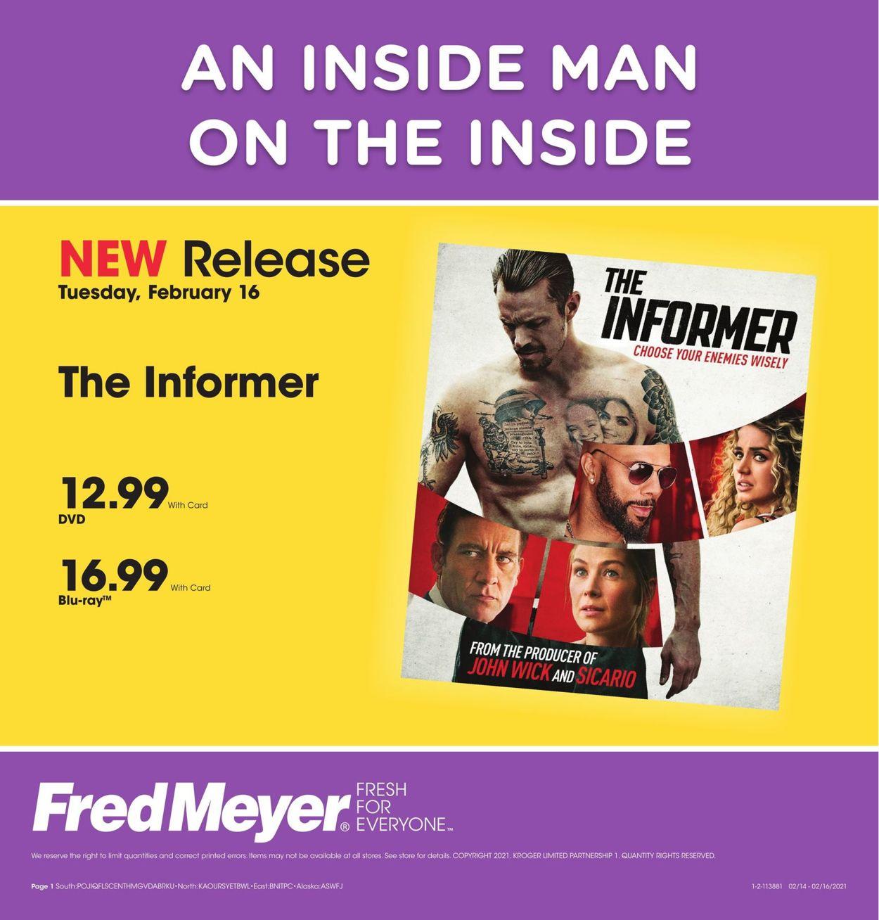 Fred Meyer Weekly Ad Circular - valid 02/16-02/16/2021