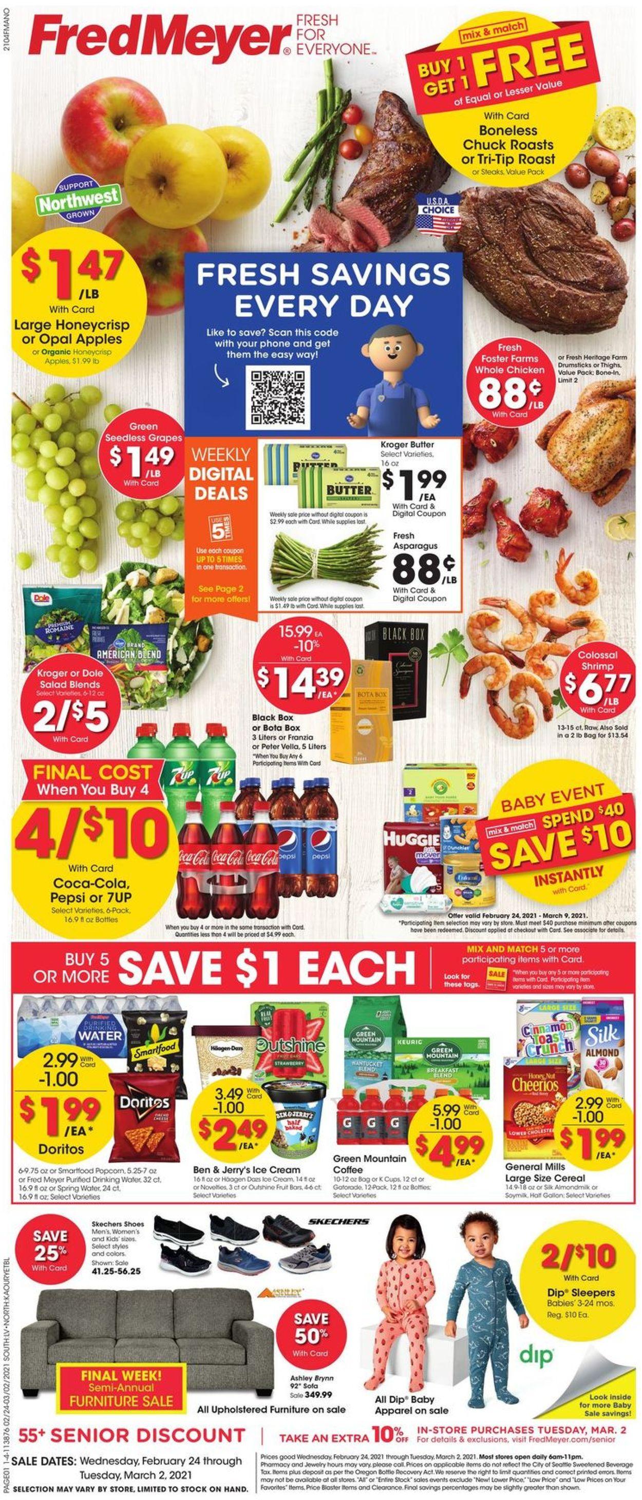 Fred Meyer Weekly Ad Circular - valid 02/24-03/02/2021