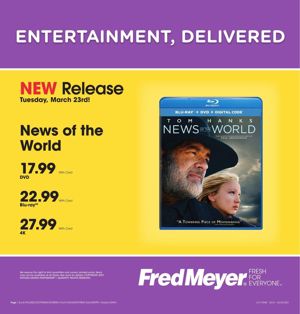 Fred Meyer Weekly Ad Circular - valid 03/21-03/23/2021