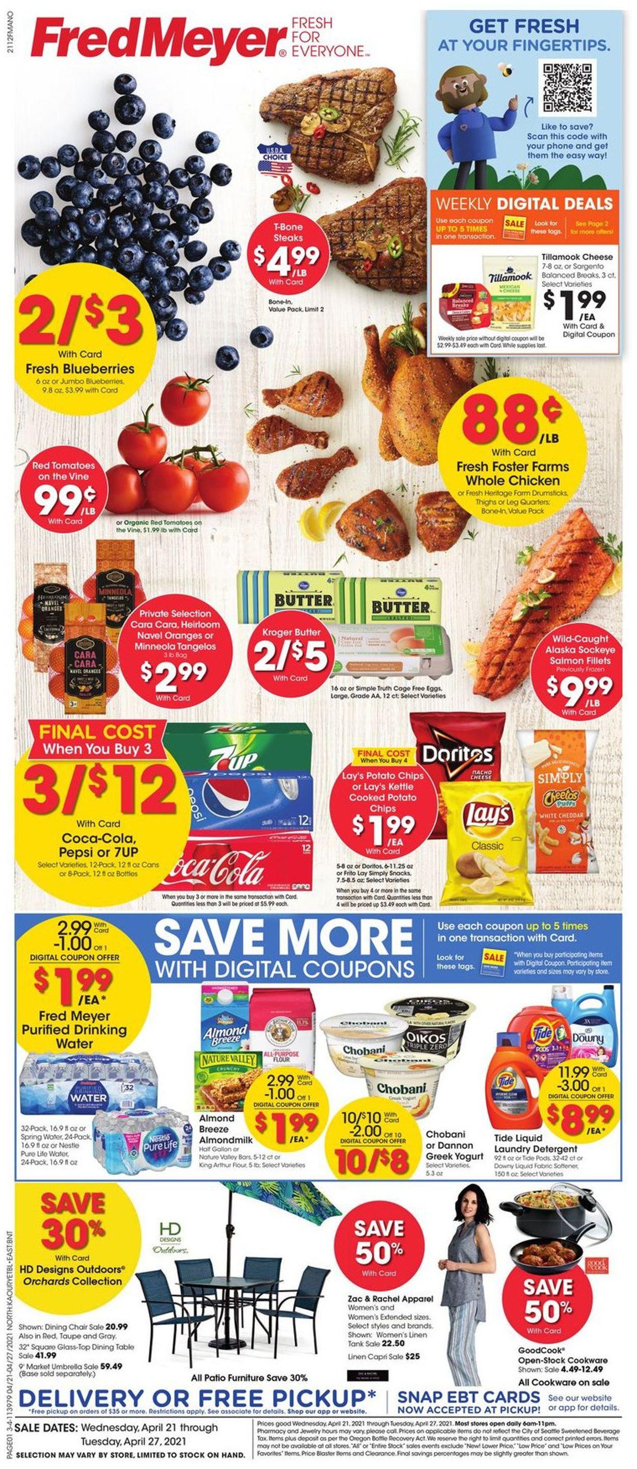 Fred Meyer Weekly Ad Circular - valid 04/21-04/27/2021