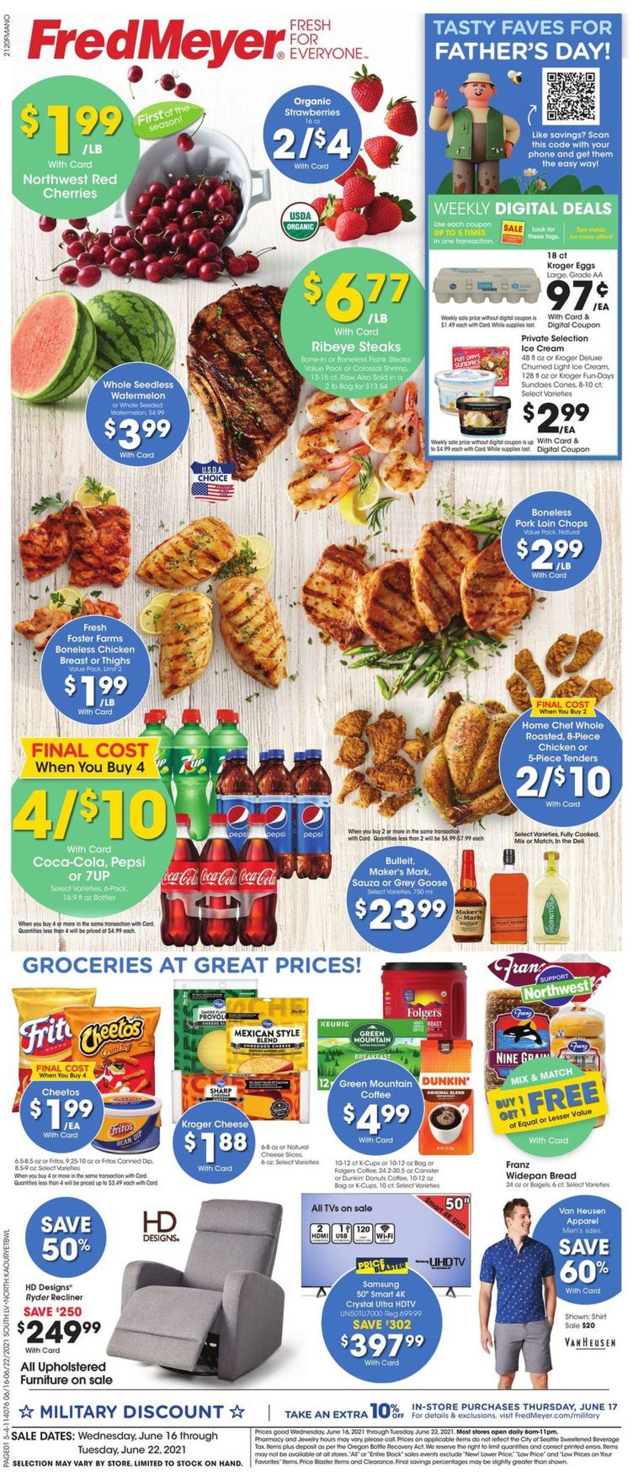 Fred Meyer Weekly Ad Circular - valid 06/16-06/22/2021