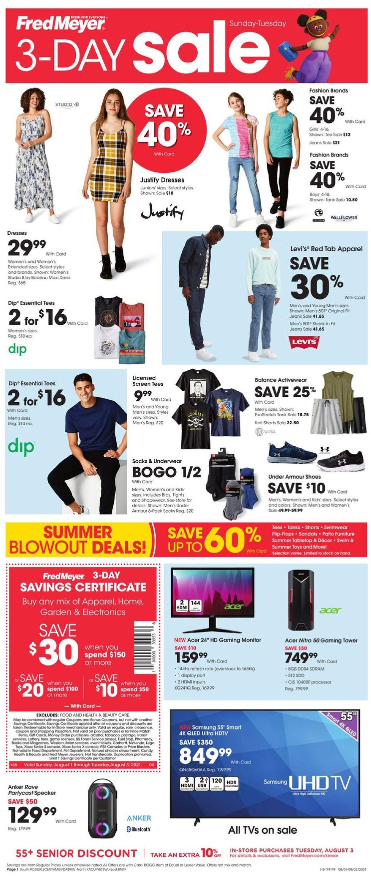 Fred Meyer Weekly Ad Circular - valid 08/01-08/03/2021