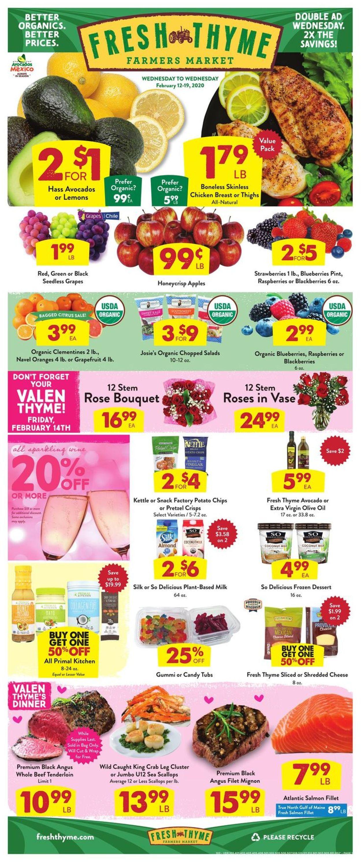 Fresh Thyme Weekly Ad Circular - valid 02/12-02/19/2020