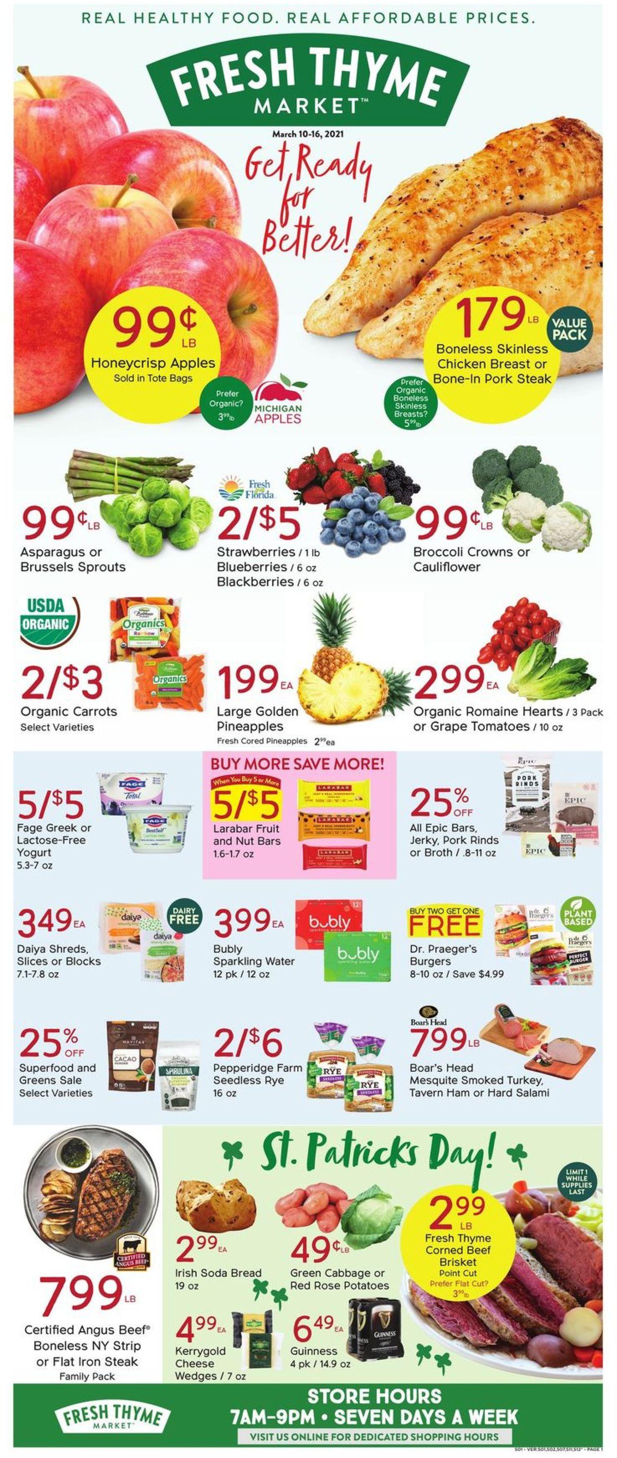 Fresh Thyme Weekly Ad Circular - valid 03/10-03/16/2021