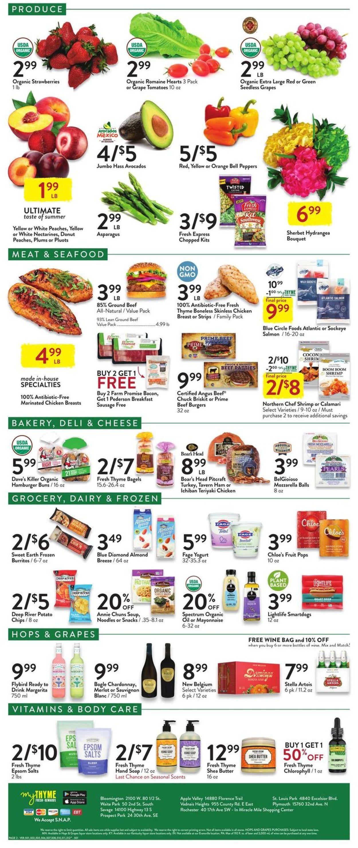 Fresh Thyme Weekly Ad Circular - valid 07/21-07/27/2021 (Page 2)