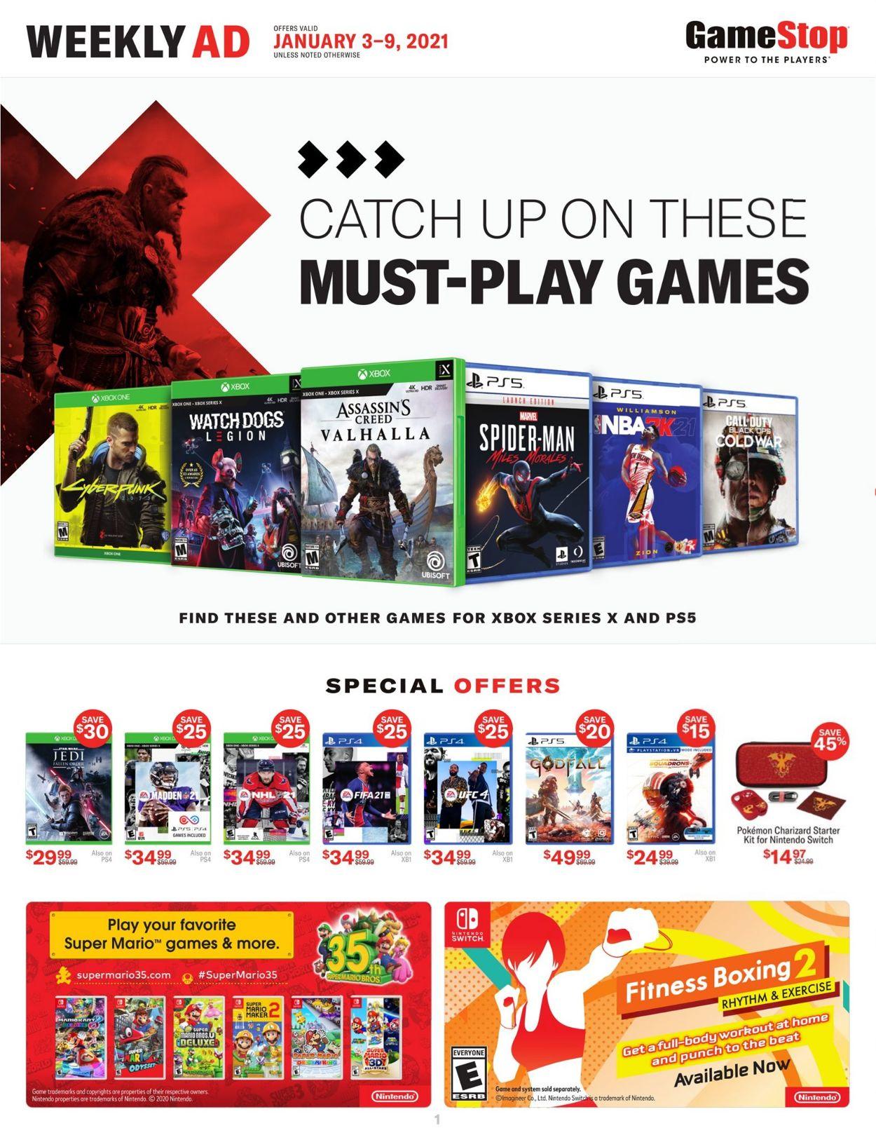 Game Stop Weekly Ad Circular - valid 01/03-01/09/2021