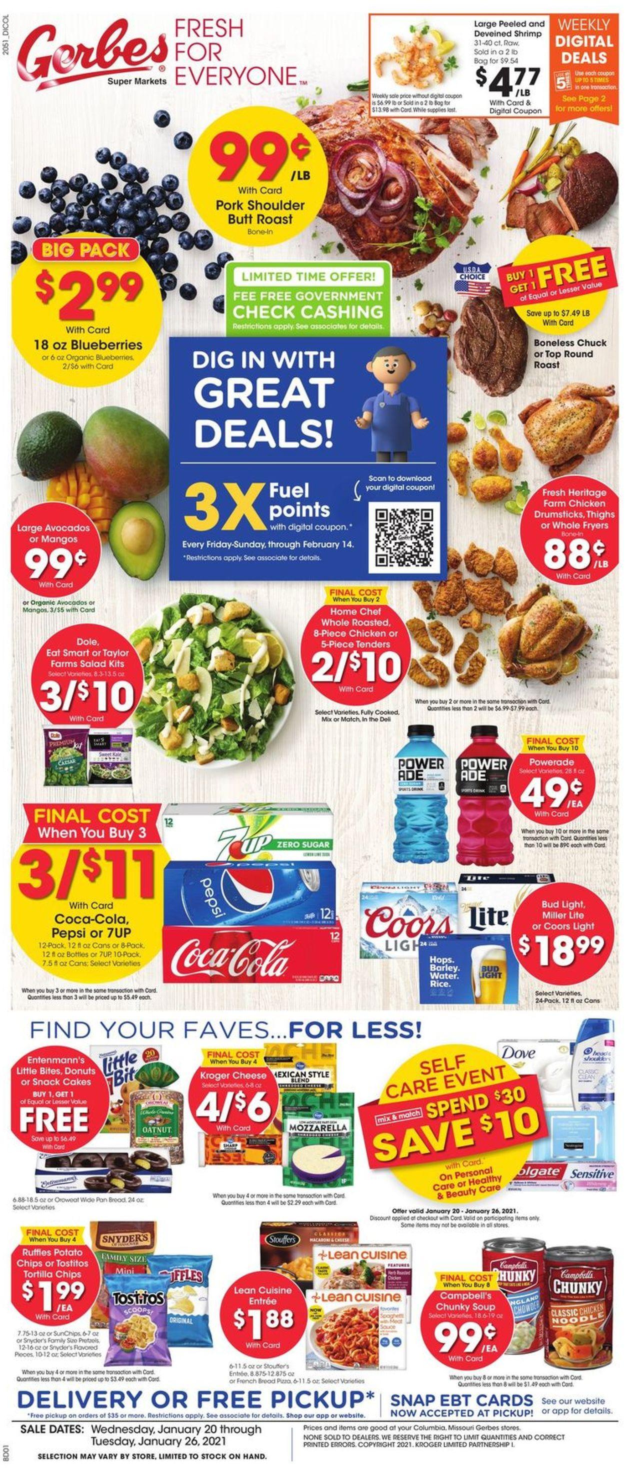 Gerbes Super Markets Weekly Ad Circular - valid 01/20-01/26/2021