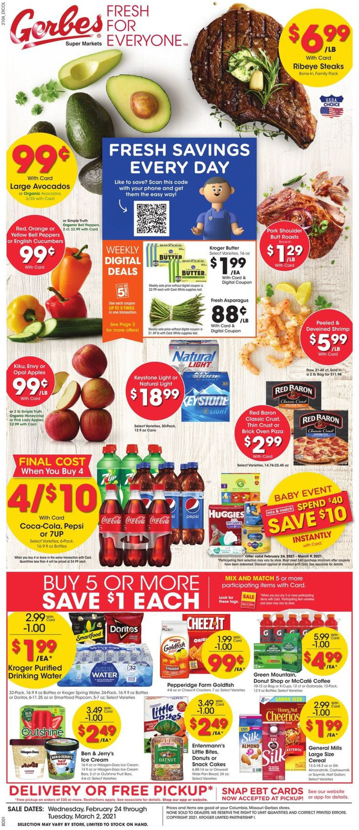 Gerbes Super Markets Weekly Ad Circular - valid 02/24-03/02/2021