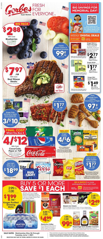 Gerbes Super Markets Weekly Ad Circular - valid 05/26-06/01/2021