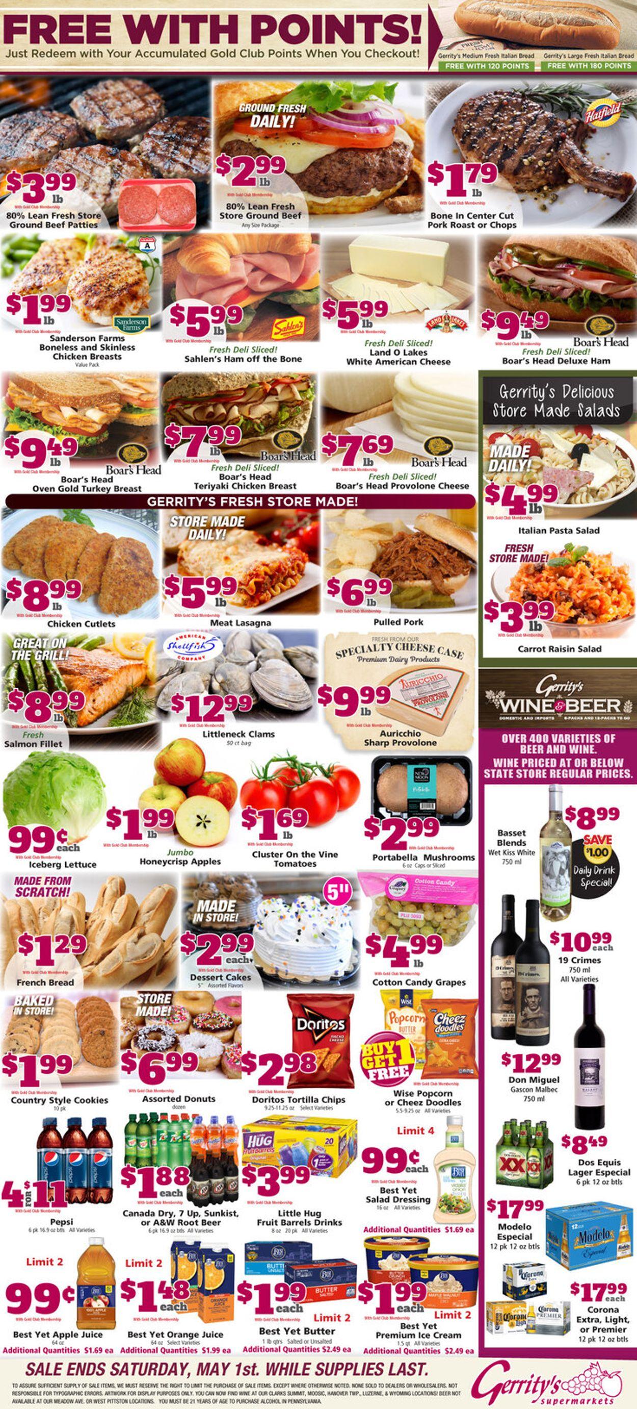 Gerrity's Supermarkets Weekly Ad Circular - valid 04/25-05/01/2021